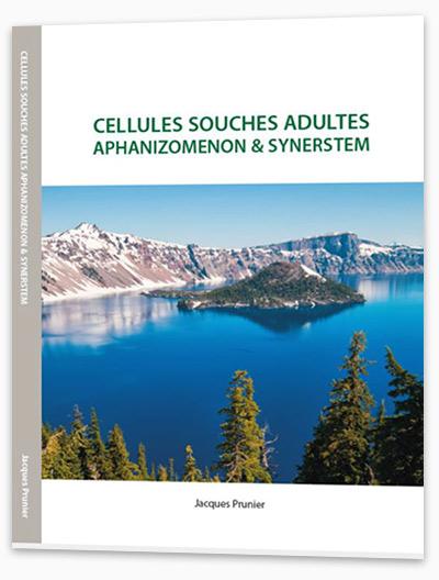 Cellules souches adultes, aphanizomenon (AlphaOne) et Synerstem, l'ouvrage des recherches de Jacques Prunier, fondateur de SynerJ-Health, sur cette algue fantastique.